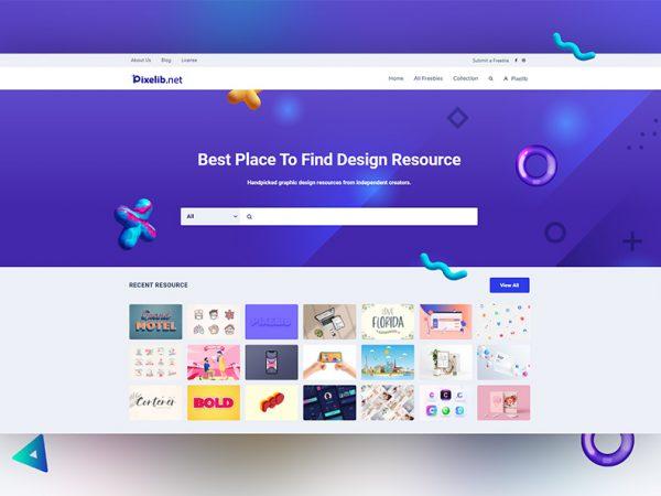 Pixelib Website